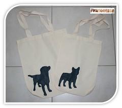 Ecobags (mfuxiqueira) Tags: co labrador cachorro feltro bolsa silhueta ecobag bullog customizao feltroestampado