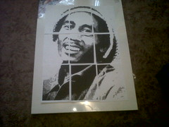 Bob Marley Portrait Part 1 (Ayesha_B.) Tags: portrait blackandwhite art stencil reggae bobmarley rastafarian ayeshabrown
