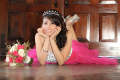 Quinceanera session-40 (Karina Franco Wedding Photography) Tags: birthday pink roof girl sunglasses lady youth ramp chica dress balcony young 15 teen hispanic latina diva quinceanera