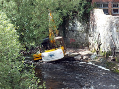 Tracked machine that was submerged yesterday (rowanlea51) Tags: