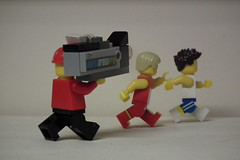 Spare a thought for the Olympic camera operators (Paranoid from suffolk) Tags: camera london athletics lego minifigs olympics 2012 minifigures