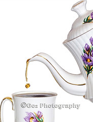 Tea time (Stevemc2011) Tags: flowers white cup kitchen coffee gold golden break tea beverage over social drop drip pot tradition splash spout custom gilded teatime liquid luxury porcelain isolated graces sip