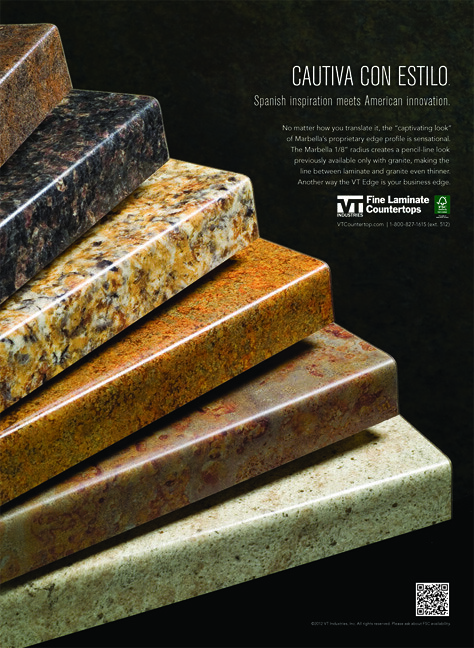 VT Industries Fine Laminate Countertops Fan Ad (VT Industries) Tags: Wood  Home Kitchen