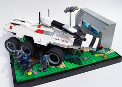 Mako 1 (Irish Spaceman) Tags: landscape tank lego attack explore scifi sciencefiction husk diorama shepard colony legion mako m35 geth masseffect garrus