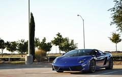Two Colors (jacobbaileyphotography) Tags: blue black cars coffee photography grey dallas monterey lp rims lamborghini gallardo 5502 bicolore jacobbailey