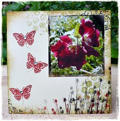 AJ  #24 (stamping_rika) Tags: red butterfly stamping rood stempelen vlinder artjourney