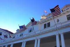 Old Glory at Stanley Hotel - Estes  Park, Colorado (danjdavis) Tags: hotel colorado flag americanflag cupola estespark oldglory historicbuilding stanleyhotel historichotel
