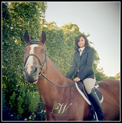 nicole04 (AWelsh) Tags: portrait horse woman ny film senior girl holga kodak highschool rochester teen 400 portra equestrian hs andrewwelsh