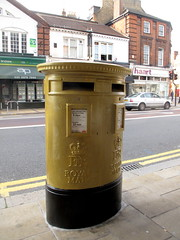 Gold Postbox (duncan) Tags: postbox olympics wimbledon london2012 2012olympics londonolympics wimb goldpostbox