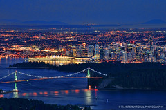 The Worlds Most Livable City (TIA International Photography) Tags: park city bridge blue summer urban usa canada mountains west nature water station skyline night vancouver forest port marina buildings tia georgia landscape lights evening bay coast harbor washington gate downtown cityscape bc waterfront place skyscrapers natural state pacific northwest harbour dusk district centre border central floating delta august center columbia lookout richmond surrey business stanley hour convention wes