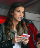 Vogue Williams gives a speech at a gay rights march in support of her sister Amber Dublin, Ireland