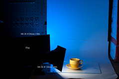 Yellow Setup (Creative_Light_Photography) Tags: life blue yellow table photography still nikon top gel d90 sb26 setupshot strobist rocso