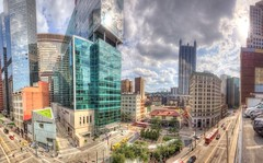Panorama of downtown Pittsburgh HDR (Dave DiCello) Tags: beautiful skyline photoshop nikon pittsburgh tripod usxtower christmastree northshore bluehour nikkor hdr highdynamicrange pncpark marketsquare thepoint pittsburghpirates cs4 ppgplace steelcity photomatix beautifulcities yinzer cityofbridges tonemapped theburgh pittsburgher colorefex cs5 hdrpanorama ussteelbuilding beautifulskyline d700 thecityofbridges pittsburghphotography davedicello pittsburghcityofbridges steelscapes beautifulcitiesatnight hdrexposed picturesofpittsburgh cityofbridgesphotography