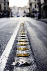 Bus Line (Giulio Campri) Tags: summer italy rome roma car yellow nikon italia estate bokeh dramatic line giallo nikkor vacanza linea 2012 50mm18 holyday macchine d90 giuliocampri