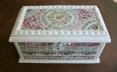 Mosaic jewelry box (ree-creation-mosaics) Tags: box mosaic trinket jewelrybox piqueassiette keepsakebox
