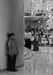 Standing By (Aaron Webb) Tags: china wedding bw restaurant beijing   china5