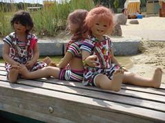 Setina Anne-Moni und Sanrike (Kindergartenkinder) Tags: wasser dolls sommer setina annettehimstedt annemoni kindergartenkinder himstedtkinder sanrike naturbadolfen