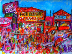 MEMORIES OF THE OLD VENICE BEACH (roberthuffstutter) Tags: style expressionism impressionism huffstutter watercolorsbyhuffstutter artmarketusa