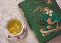 (;dreamer) Tags: flowers green cup fairytale stars book tea andrew fairy mermaid delicate siren lang fairytales foliosociety