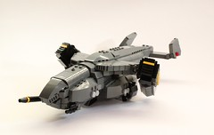 DARKWATER Vulture Dropship (✠Andreas) Tags: lego military vulture darkwater vtol gunship dropship thepurge thepurgedarkwater darkwaterdropship heavyvtol orbitaldropship