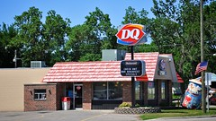 Dairy Queen (Dean Gulstad) Tags: summer usa color minnesota june buildings midwest day unitedstates outdoor availablelight restaurants signage northamerica dawson mn 2009 smalltown digitalimage nikond90 nikkor18105mm lacquiparlecounty