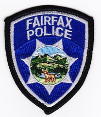 CA - Fairfax Police Mini Patch (Inventorchris) Tags: california ca public office peace cops police mini safety cop service law enforcement patch fairfax emergency patches department officer califorina waubonsee officers saftey