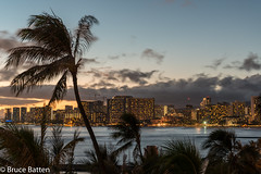 160710 Honolulu-09.jpg (Bruce Batten) Tags: night usa northpacificocean plants subjects reflections buildings atmosphericphenomena businessresearchtrips trees locations trips occasions oceansbeaches urbanscenery cloudssky hawaii honolulu unitedstates us