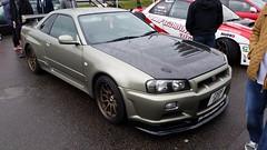 Nissan Skyline GTR R34 (RKMCarSpotting) Tags: nissan skyline gtr r34 croft circuit modified live 2015 racing track photo pic l4l like4like