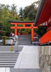 Fushimi Inari Taisha XVI (Douguerreotype) Tags: shrine temple buddhist kyoto gate torii red japan stairs steps sweep clean broom brush