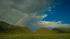 Kyrgysztan-4927 (EbE_inspiration) Tags: kyrgyzstan landscape outdoor travel nikon nikond7100 d7100 gree green mountain sky blue clouds