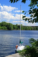 Moored Along the Hudson_1264 (Prof Ryall) Tags: sailboat mooring dock hudsonriver albanyny