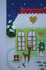 August 20 2016, Saturday Afternoon (interchangeableparts) Tags: worksinprogress spockschristmas needlepoint melissashirley christmasvillage ruthschmuffstitchguide