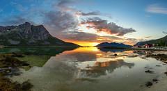 midnight mood (John A.Hemmingsen) Tags: grtfjord troms troms mountains midnight midnightsun landscape fjord