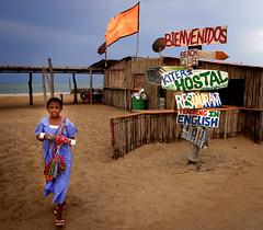 Wayuu Child in Cabo de la Vela - La Guajira peninsula of Northern Colombia (Andr Schnherr) Tags: 40d visionhunter child kind wayuu colombia kolumbien cabodelavela kite desert wste lagujira beach