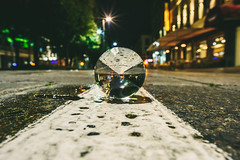 White Line | GlassBallProject #229/365 (A. Aleksandraviius) Tags: white line street night bokeh nikoneurope kaunas glassballproject glassballprotography crystalballphotography lietuva lithuania city reflections architecture oldtown reflection nikon 20mm f18g nikkor 365one 365days 3652016 d810 nikond810 20mmf18g afdnikkor20mmf18ged nikkor20mm nikon20mm18g nikon20mm 365 project365 229365 glassball crystalball throughthecrystalball