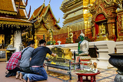 Doi Suthep Buddha in Green (Anoop Negi) Tags: doi suthep buddha green glass silver offer prayers chiangmai thailand travel anoop negi ezee123