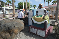 Randolfe Wicker aka Randy Wicker photographing the St. Martin Market Women memorial in Marigot Collectivité de Saint-Martin France French side of the island of Saint Martin FWI French West Indies (RYANISLAND) Tags: france french saintmartin stmartin saint st collectivity martin collectivityofsaintmartin collectivité collectivitédesaintmartin marigot frenchcaribbean frenchwestindies thecaribbean caribbean caribbeanisland caribbeanislands island islands leewardislands leewardisland westindies indies lesserantilles antilles caribbees