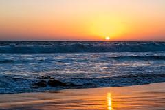 Pacific Sunset (Woodlands Photog) Tags: pacific ocean waves sunset beach manhattanbeach california reflection