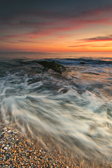 Gunwalloe Beach (mrcheeky2009) Tags: fineart sunset beach longexposure water movement motion arty artistic dramatic drama beautiful stunning special canon canon1740mml canon5diii
