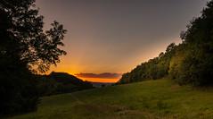 Wenn sich die Sonne versteckt (berndtolksdorf1) Tags: sonnenuntergang lichtstimmung abend outdoor landschaft landscape wiesen licht light sunset