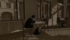 Quiet Moments - Dinner at Adlon Hotel (Nazeem Resident) Tags: roleplay role rp play pictures playing project pixels berlin secondlife second shadow sl scenery life
