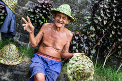 Straw Hat Uncle (CLY8) Tags: inndonesia bali tegallalang ubud uncle people culture fuji x100t 35mm