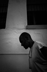 man against wall 1 (dustin.gebhard) Tags: deadbeatgallery ricohgr streetphotography losangeles fairfax wall man monochrome blackwhite raw juxtapose