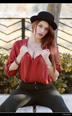 Irene Ballesteros - 5/5 (Pogdorica) Tags: modelo sesion retrato posado arganzuela pelirroja sombrero chica sexy