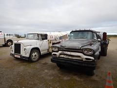 Old fuel trucks in Bettles