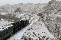 I_B_IMG_8184 (florian_grupp) Tags: asia china steam train railway railroad bayin lanzhou gansu desert landscape loess mountains sy ore mine 282 mikado steamlocomotive locomotive