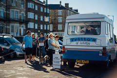 Trillo's of Whitby (Thomas Pollock) Tags: trillos whitby ice cream days out bank holiday weekend saltburn marske north yorkshire coast seaside street canon 5d classic olympus ftl 50mm f18 m42 adapter