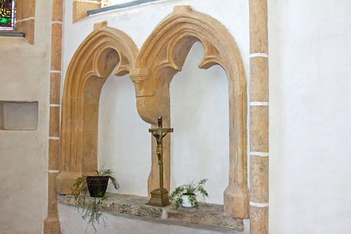 Friedersbach. Pfarrkirche. Chor. Sessionssitze, 1460