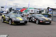 2005 Ferrari F430 & 2005 Aston Martin V8 Vantage (cerbera15) Tags: silverstone classic 2016 ferrari f430 430 aston martin v8 vantage