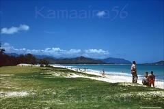 Kailua Beach Park Oahu 1956 (Kamaaina56) Tags: 1950s kailua hawaii oahu beach slide